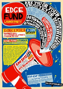 Poster used to announce the launch of The Edge Fund